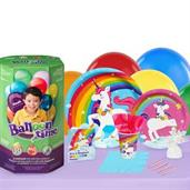 Fairytale Unicorn Party 16 Guest Party Pack and Helium Kit