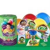 Super Why 16 Guest Kit with Tableware and Helium K