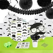 Mustache Man 16 Guest Tableware & Deco Kit