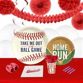 Baseball Time 16 Guest Party Pack & Deco Kit