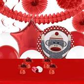 Sock Monkey Red Deco Kit