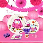 Owl Blossum 16 Guest Tableware & Deco Kit