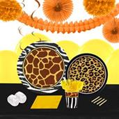 Safari Animal Adverture 16 Guest Tableware & Deco Kit