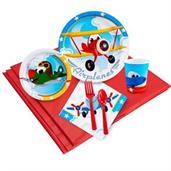 Airplane Adventure Party Supplies & Decorations Red
