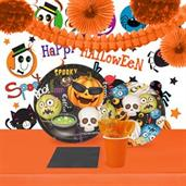 Halloween Emoji 16 Guest Tableware & Room Decor Kit
