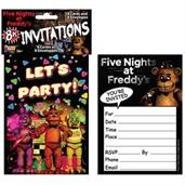 Five Nights at Freddy's Invitations