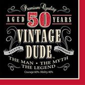 Vintage Dude 50th Luncheon Napkins (16)