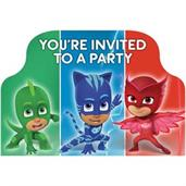 PJ Mask POSTCARD INVITATION