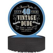 Vintage Dude 40th Honeycomb Centerpiece