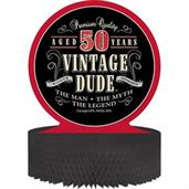 Vintage Dude 50th Honeycomb Centerpiece
