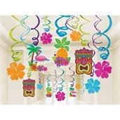 Summer Luau Foil Swirl Decorations (1)