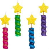 Star-topped Spiral Birthday Candles