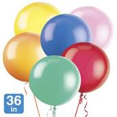 Premium Assorted Latex 36 Balloons (6)