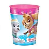 Paw Patrol Pink 16oz Plastic Favor Cup