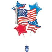 Patriotic Balloon Bouquet (5)
