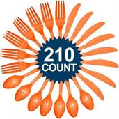 Orange Cutlery Set (210)