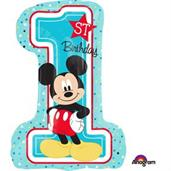 "Mickey 1st Birthday 28"" Shape Balloon"