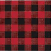Lumberjack Plaid Beverage Napkins (16)