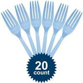 Light Blue Plastic Forks