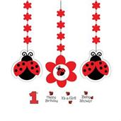 Ladybug Party Dangling Cutout