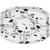 Graduation Sectional Plastic Platter (1)