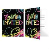 Glow Party Birthday Party Invitations (8)