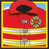 Firefighter Beverage Napkins (16)