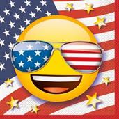 Emoji Patriotic Luncheon Napkins (16)