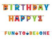 Elmo Turns One Jumbo Letter Banner Kit