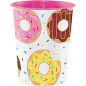 Donut Time 16oz Plastic Favor Cup (1)