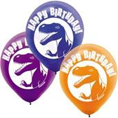 Dinosaur Party Latex Balloons