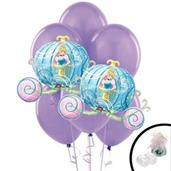 Princess Carriage Jumbo Balloon Bouquet