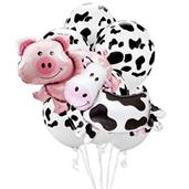 Farm Animal – Pig & Cow Jumbo Balloon Bouquet