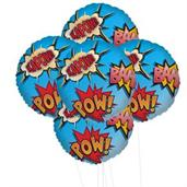 Superhero Comics 5pc Foil Balloon Kit 18""