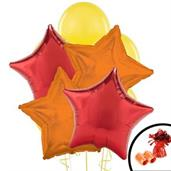Red, Orange, & Yellow Balloon Bouquet