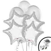 Silver Balloon Bouquet