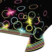 Glow Party Plastic Tablecover