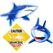 Shark Wall Decoration (3-pack)