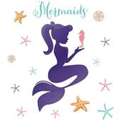 Mermaid Giant Wall Decal