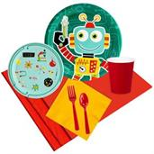 Robots Party Supplies & Decorations Red