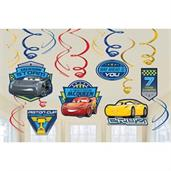 Disney Cars Foil Swirl Hanging Decorations (Each)