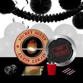Top Secret Spy 16 Guest Party Pack + Deco Kit