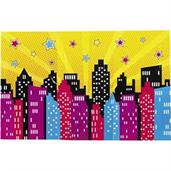 Superhero Girl Backdrop Banner
