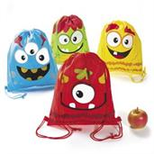 Silly Monster Drawstring Backpack(12)