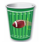 Football Party 9 oz Paper Cups(8)