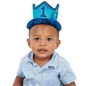 1st Birthday Blue Novelty Crown