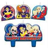 Superhero Girl Birthday Candle Set(4)