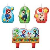 Super Mario Birthday Candle Set(4)