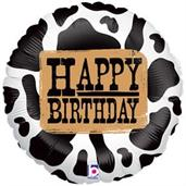 Western Birthday Foil Balloon
