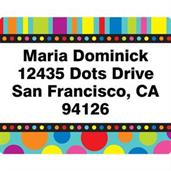 Dots And Stripes Address Labels (Sheet Of 15)